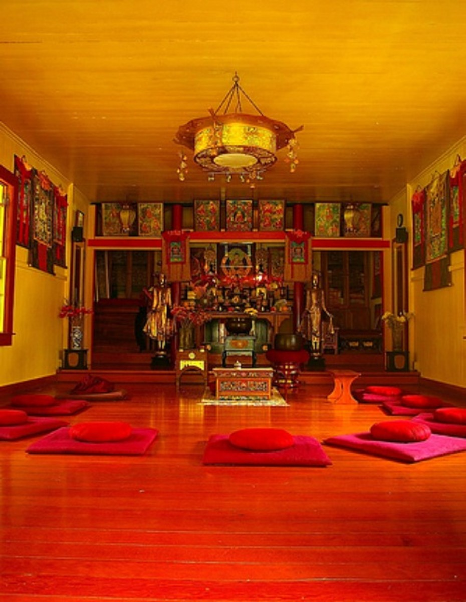 Inside the Nechung Tibetan Buddhist Temple and Retreat
