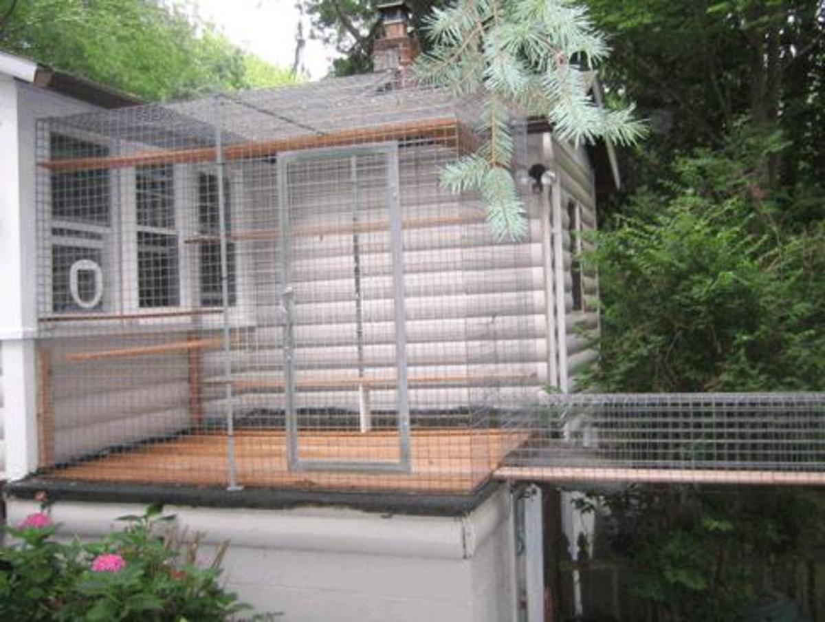 carpeted litter box enclosure