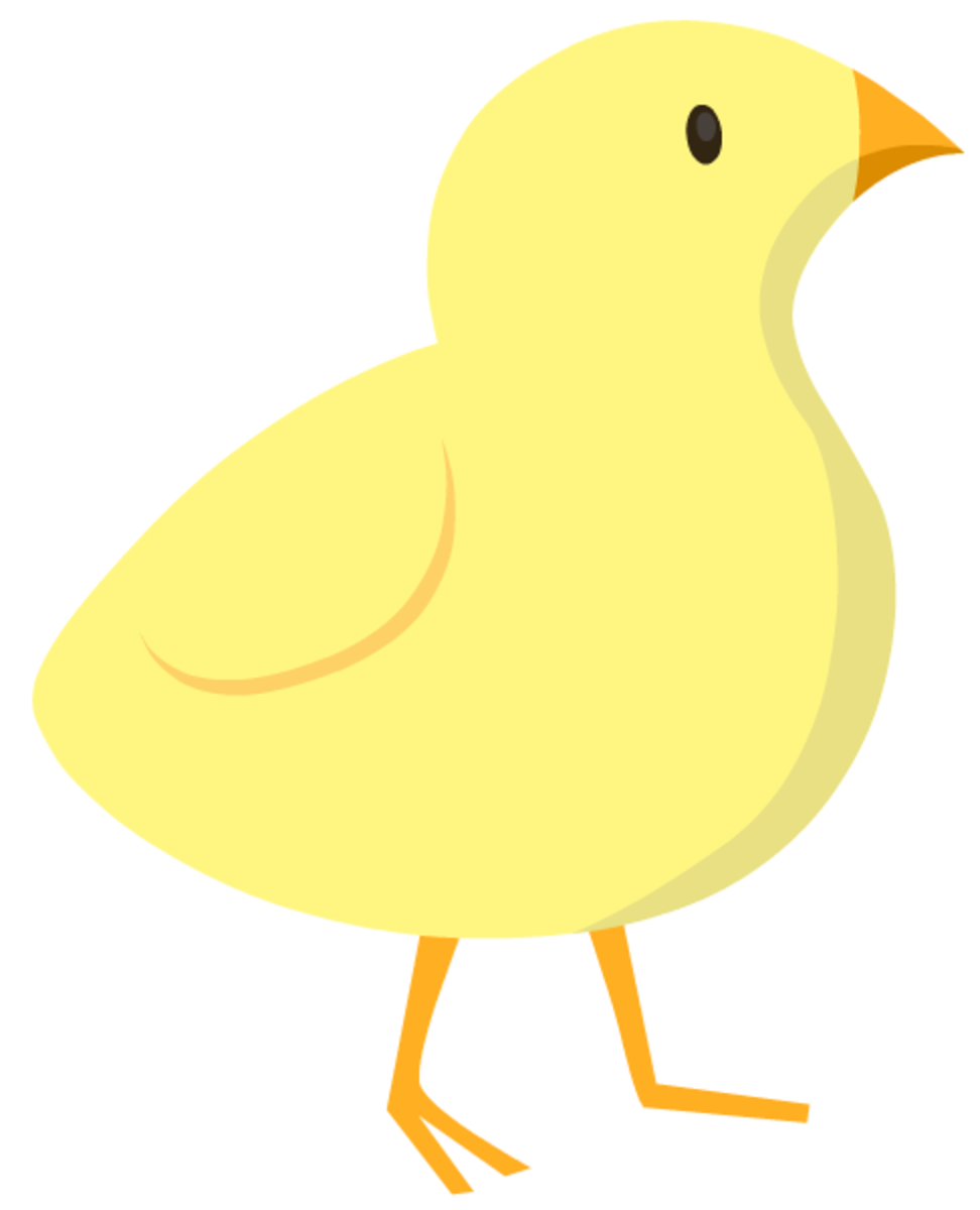 Baby chick Easter clip art