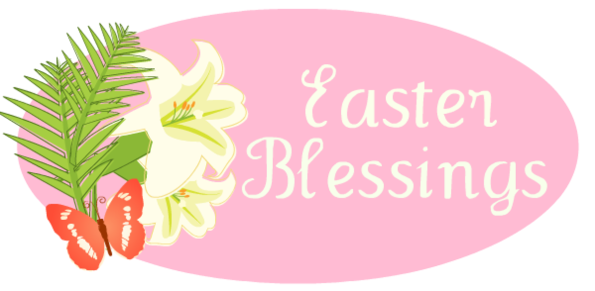 Easter lilies blessings -- pink Easter clipart