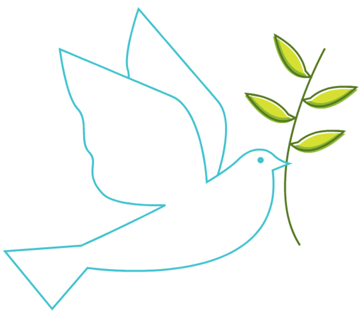 Holy Spirit dove of peace Easter clip art