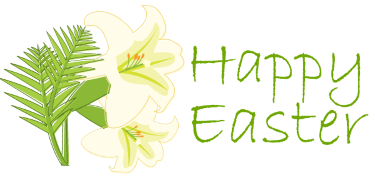 Easter lilies greeting clipart