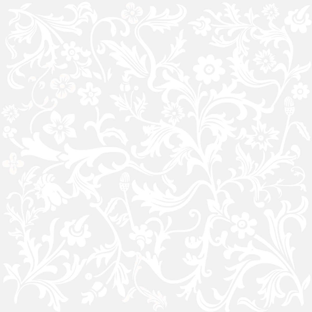 Classic silver floral wedding scrapbook paper