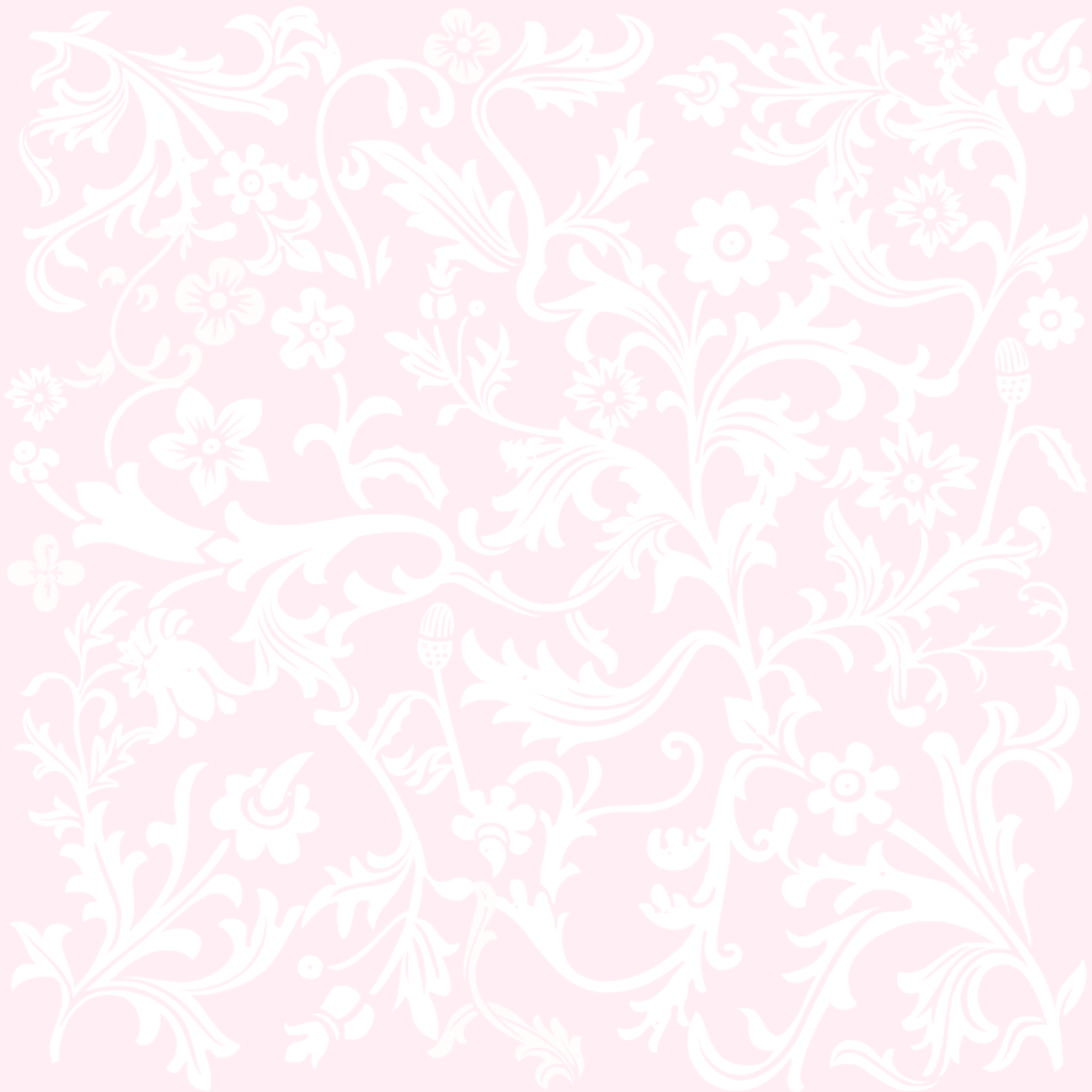 Classic soft pink floral wedding scrapbook paper
