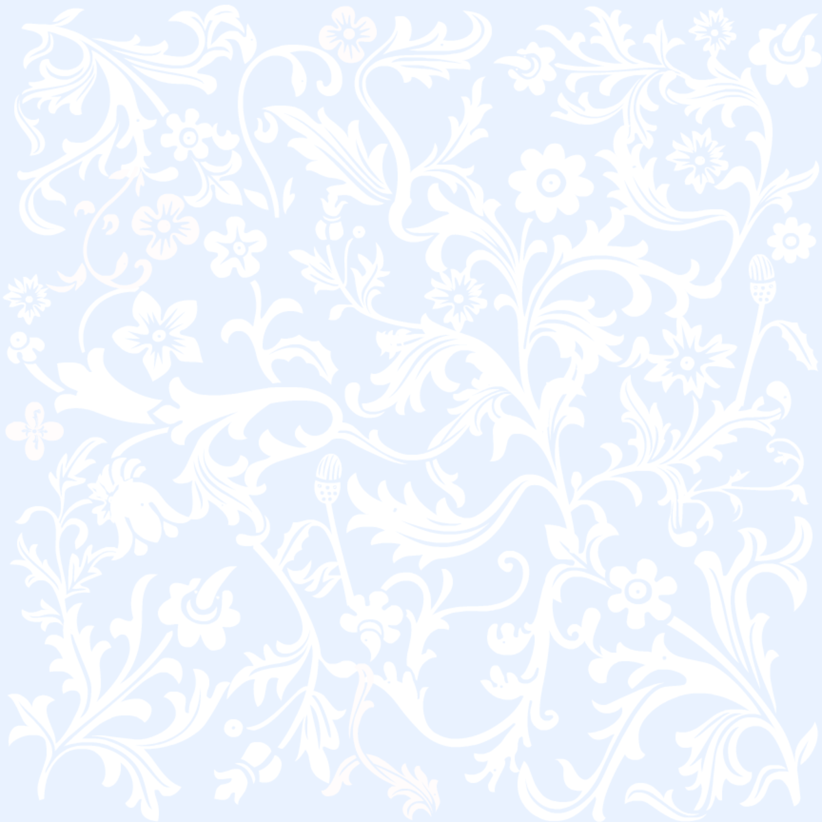 Classic baby blue floral wedding scrapbook paper