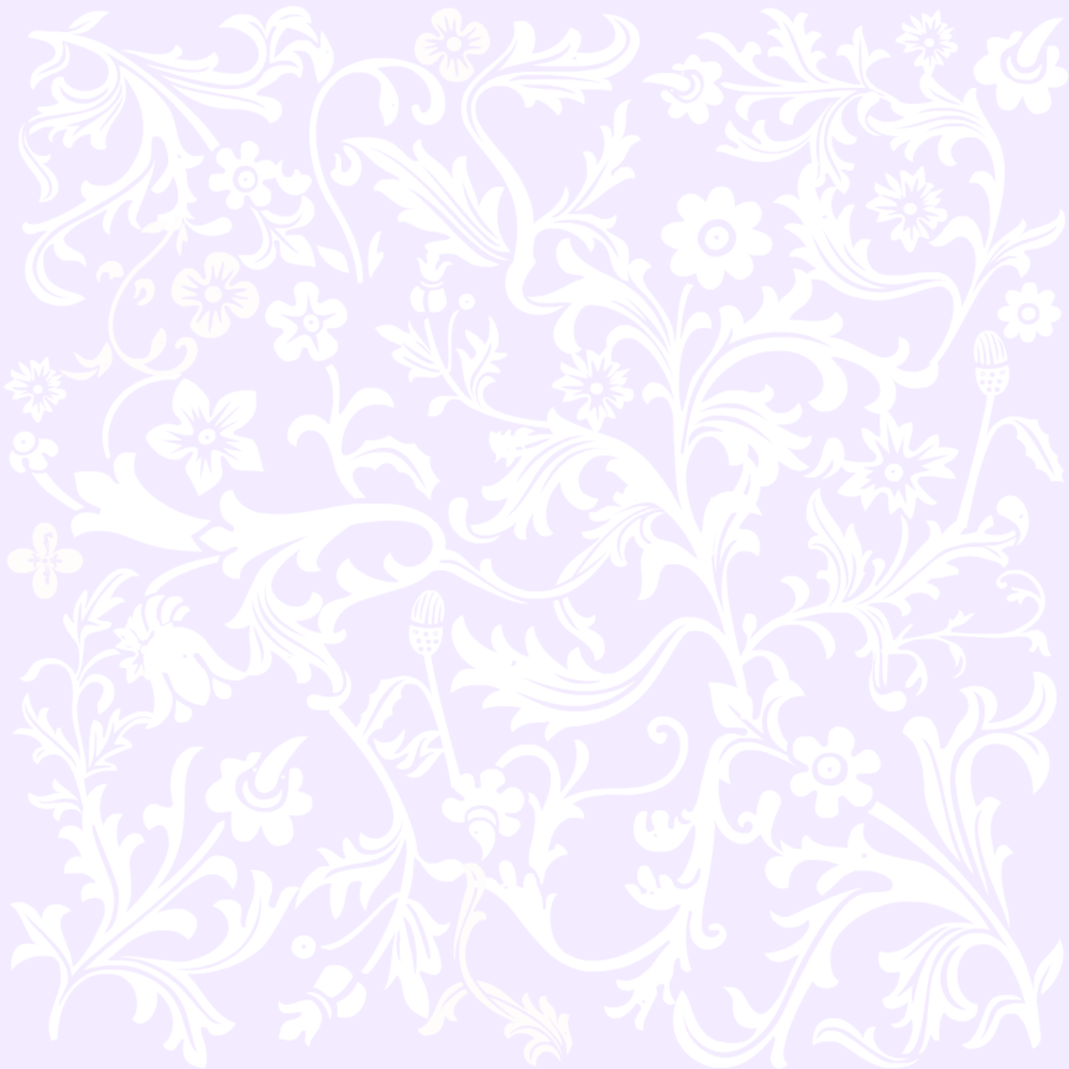 Classic lavender floral wedding scrapbook paper