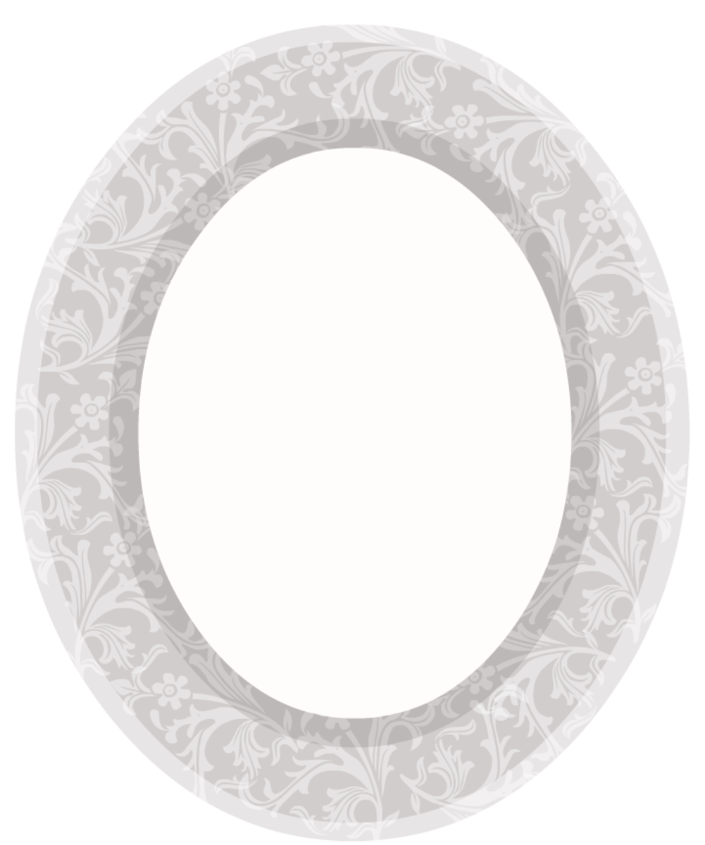 Wedding scrapbook embellishments: oval floral picture frame