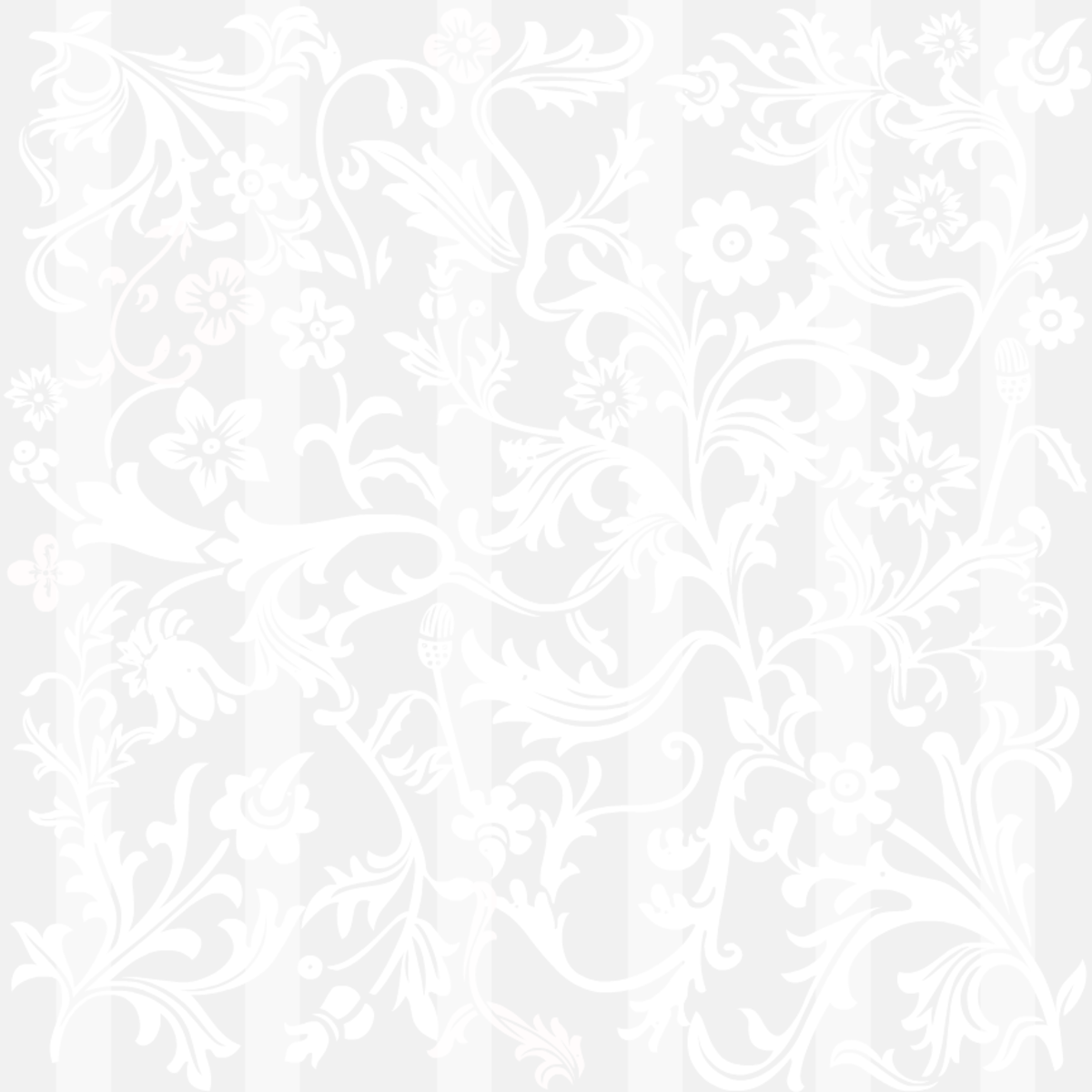 Classic silver floral and stripe wedding scrapbooking paper