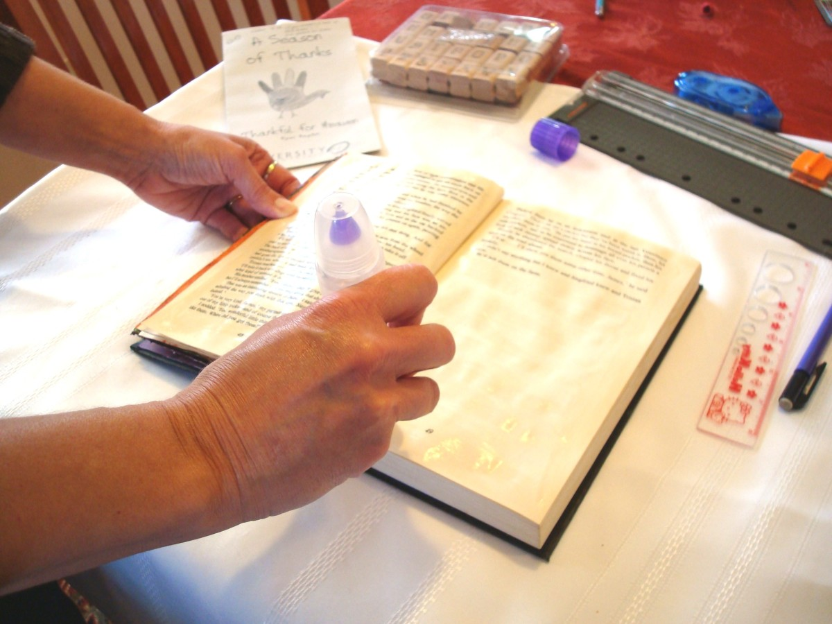 Gluing pages of Altered Book