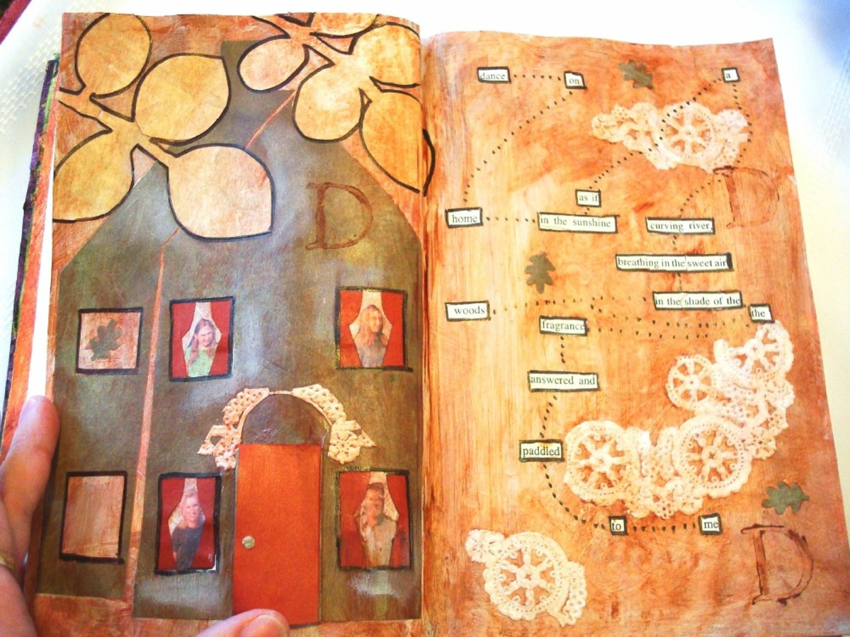 Finished Altered Book Page