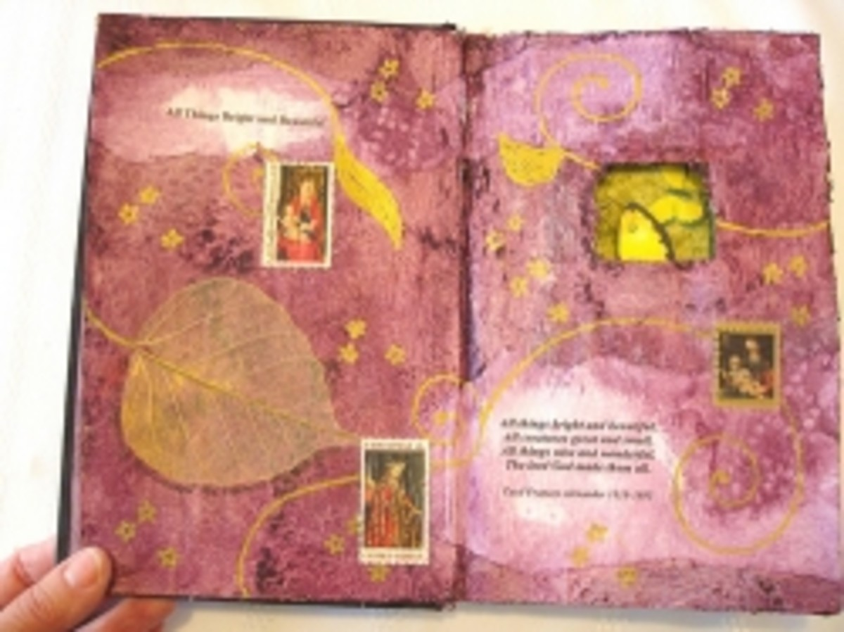 Altered Book Page by Gayle Dowell