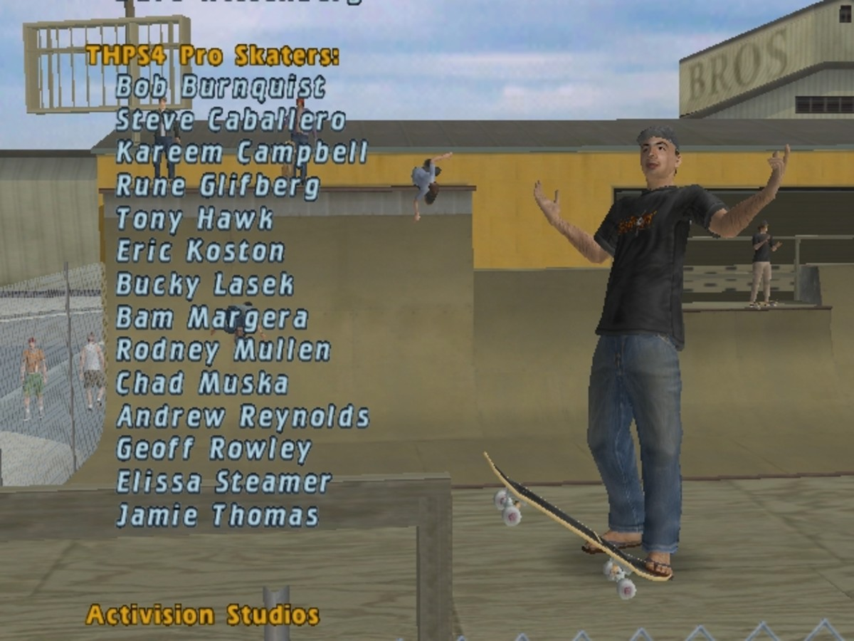 As shown in the picture, the skaters will be available once you upgrade THPS to its full version