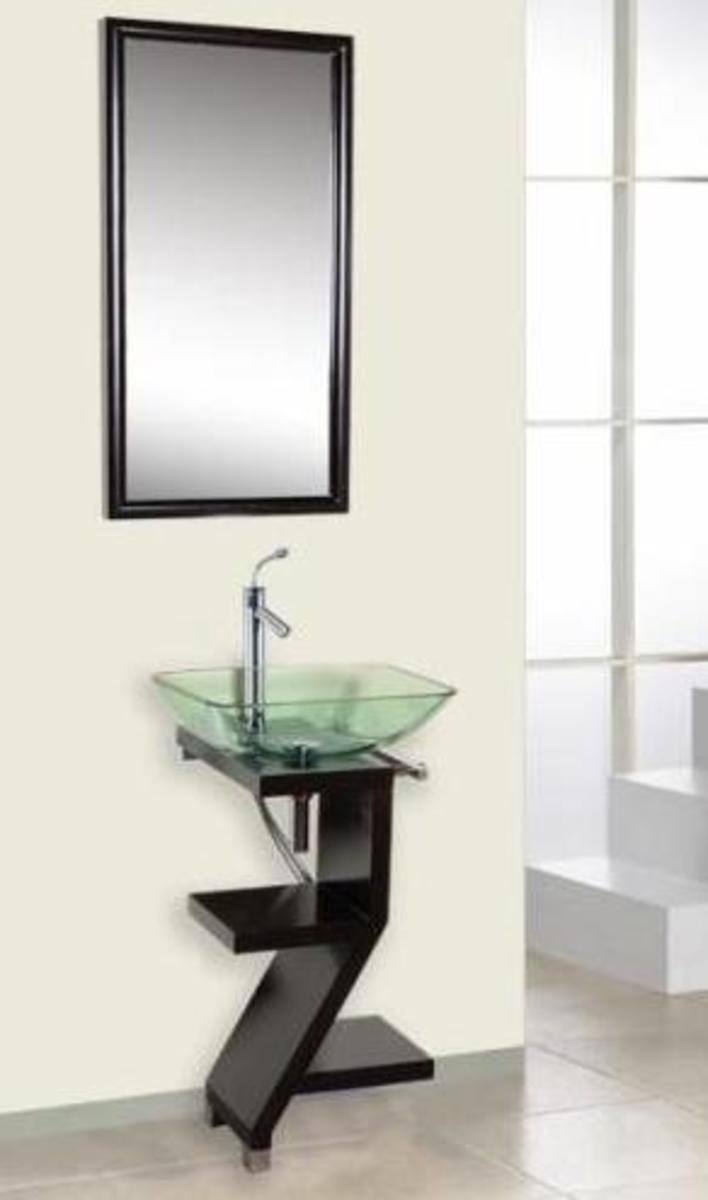 Modern vessel sink vanities are sleek and stylish.