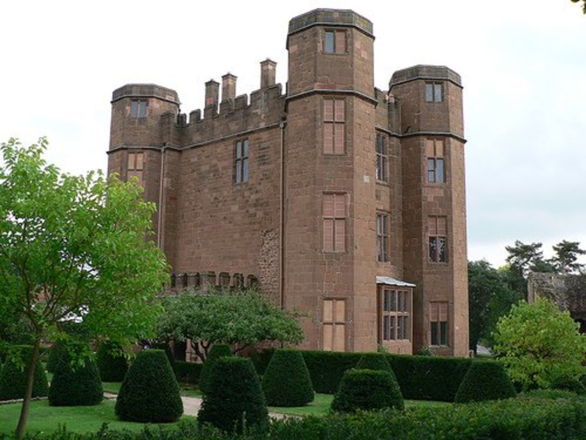 Kenilworth Castle, in Warwickshire. The castle was originally Saxon, and this stone building dates from the 11th century. John of Gaunt acquired it from his first wife, and turned it from a purely military castle into a fortified home. Copyright john