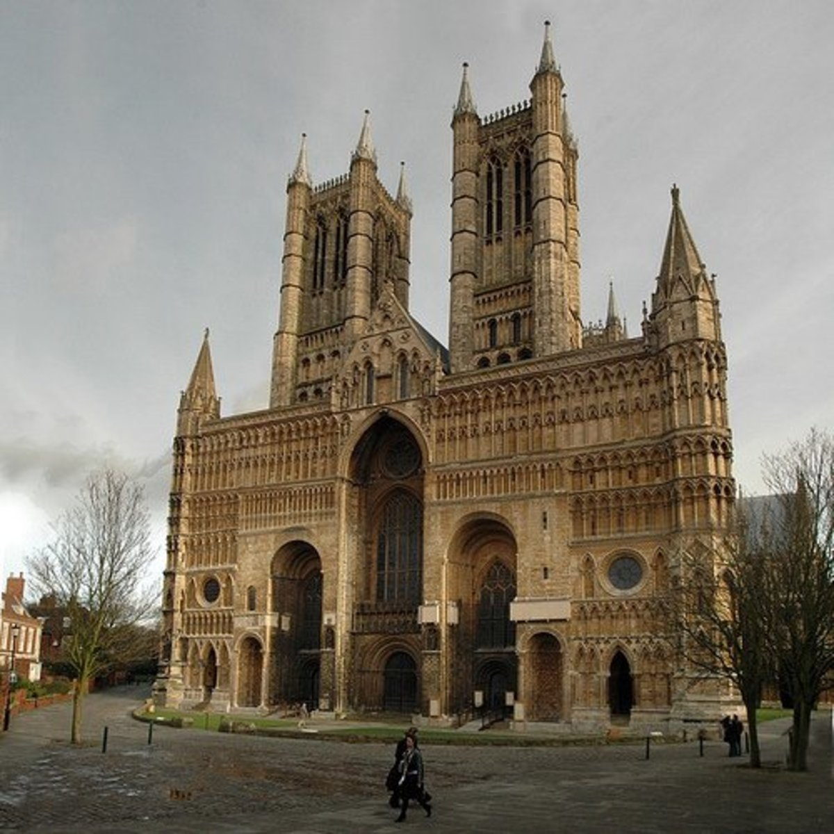 The west front of Lincoln Cathedral, copyright Bryan Ledgard