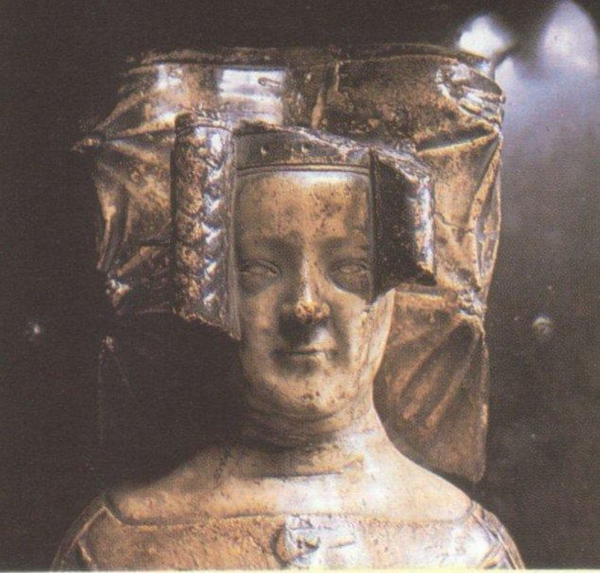 Effigy of Queen Philippa, from her tomb in Westminster Abbey.