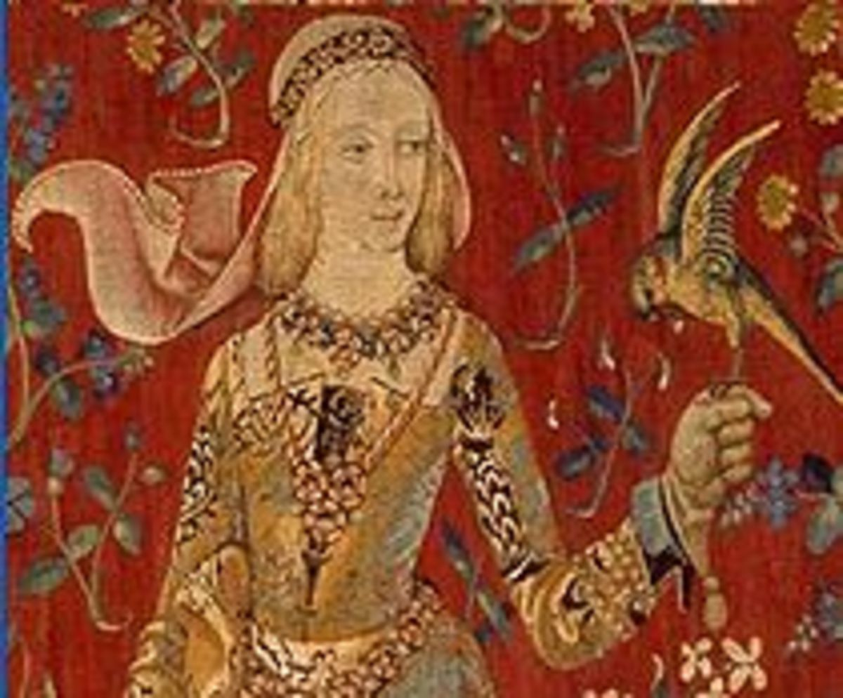 "From a series of tapestries, this detail of ""The Lady and the Unicorn"" is thought to portray Blanche."