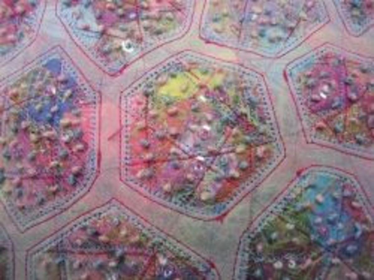 Knotweed Hexagon Purse by MeltedRachel