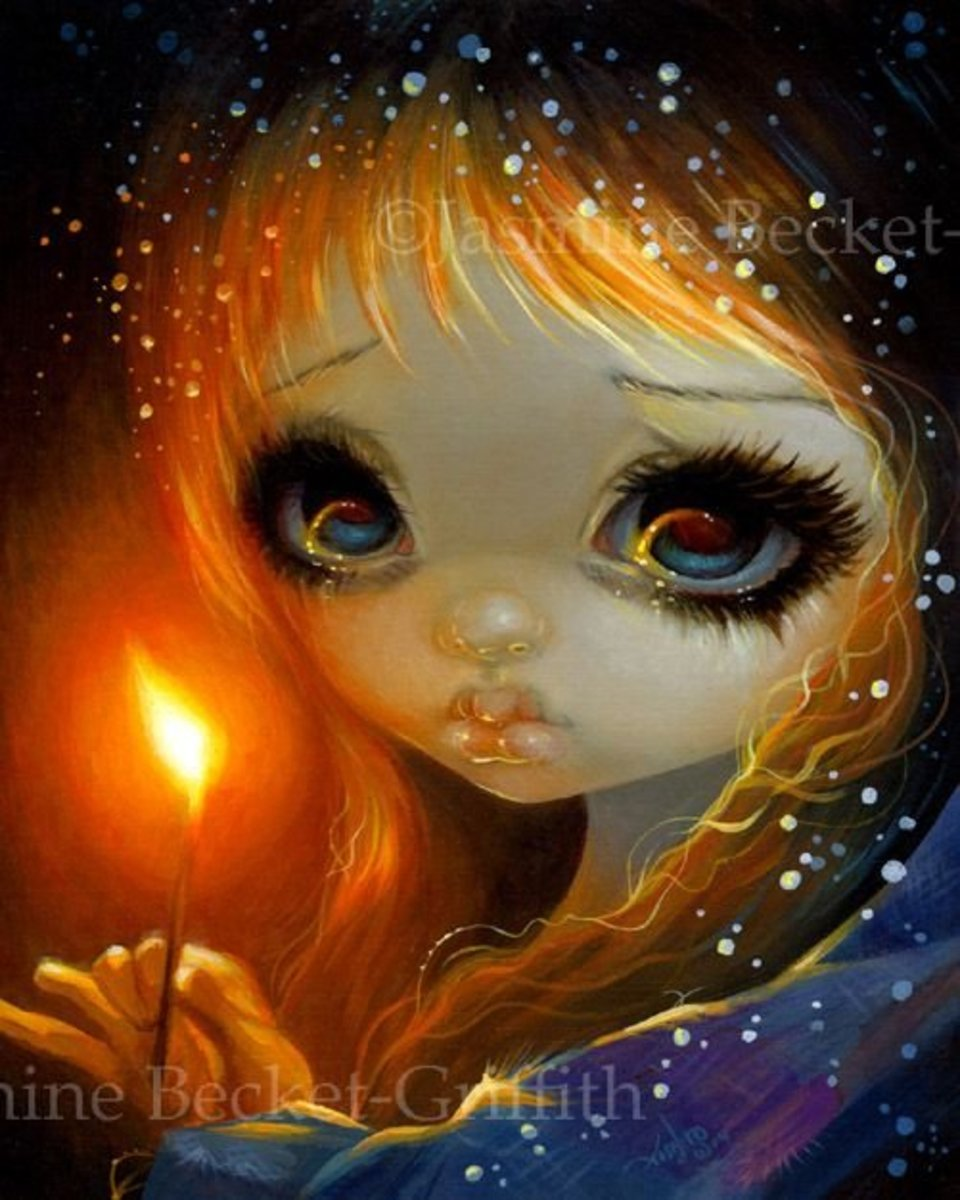 """The Little Match Girl"" by Jasmine Becket-Griffith"
