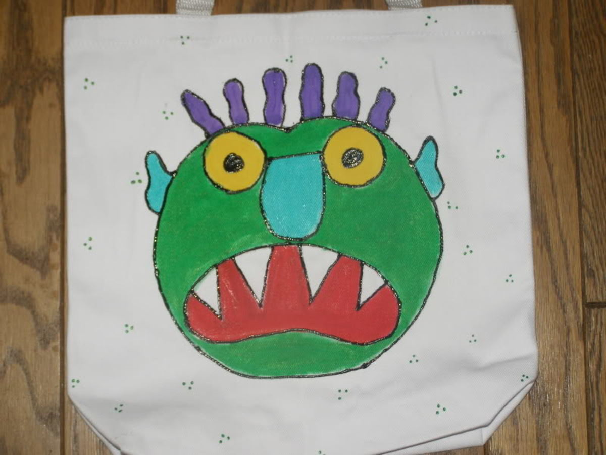 Big Green Monster Canvas Bag