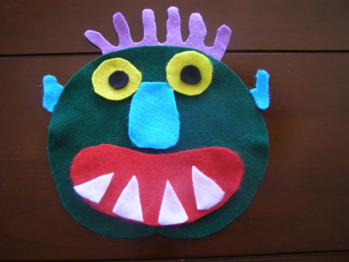 Felt Monster Face