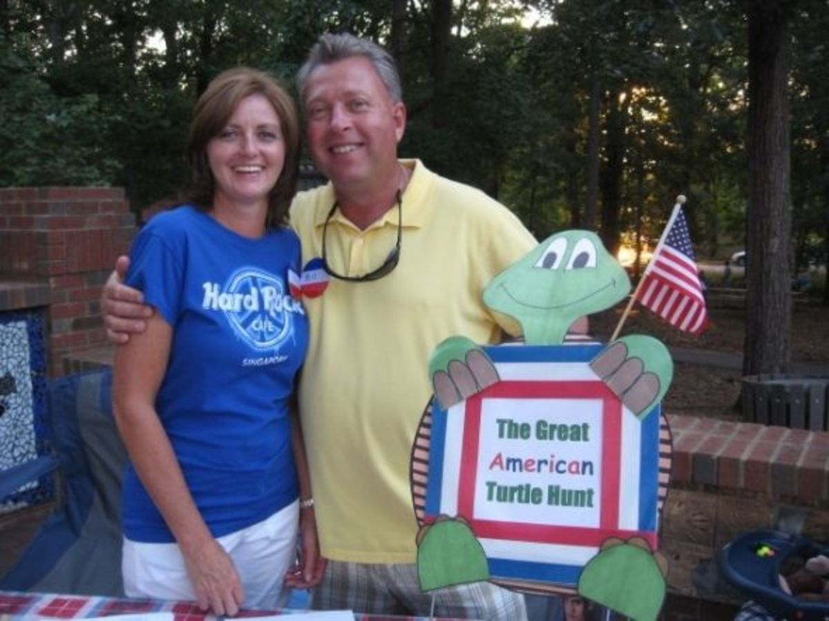 Kim and Bill Beck at the Great American Turtle Hunt