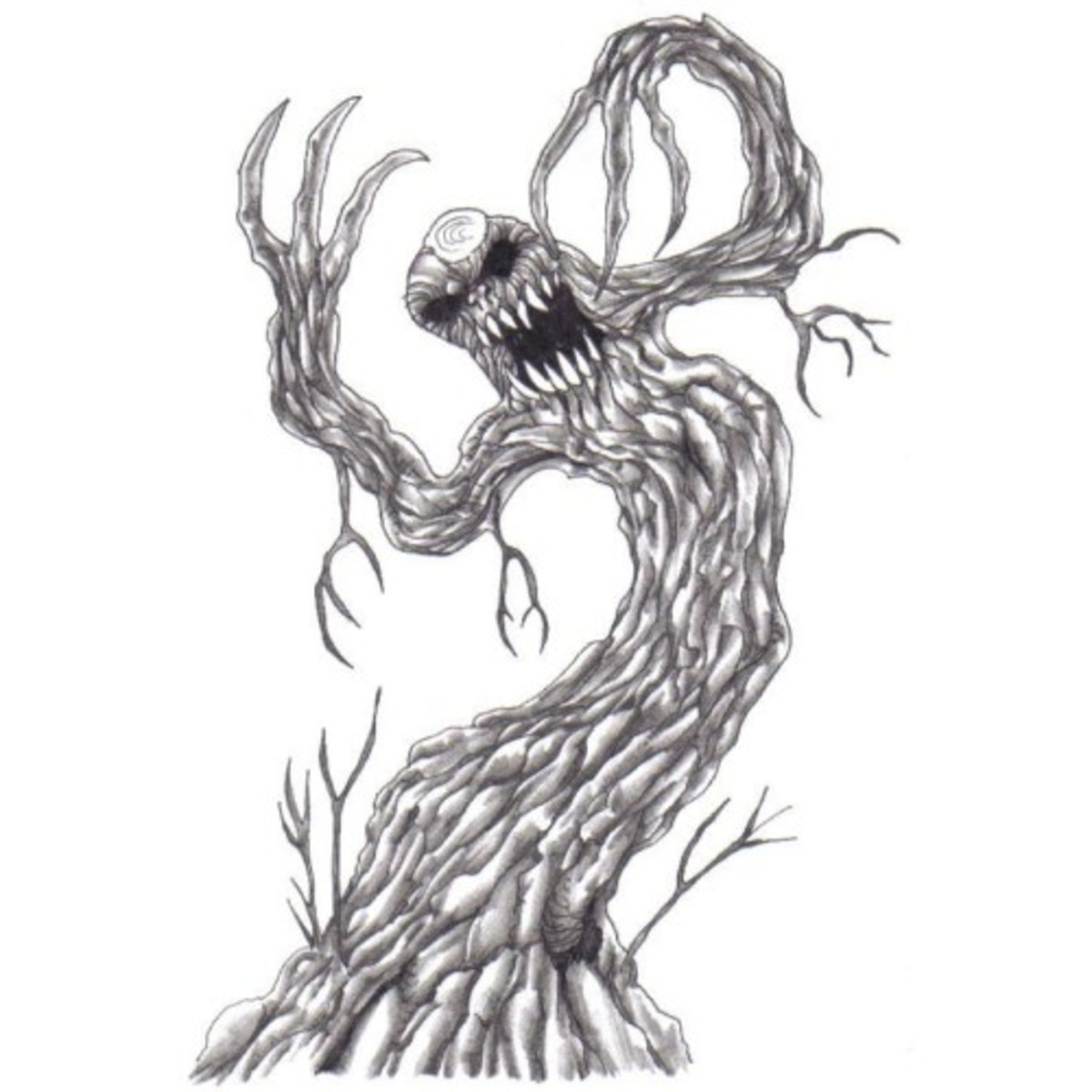This is an example of when I drew a fantasy tree from digital photos I took of trees - inspiration took hold!