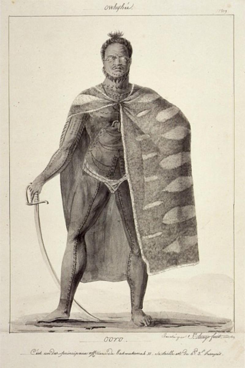 Ooro, One of the Principal Officers of Kamehameha II