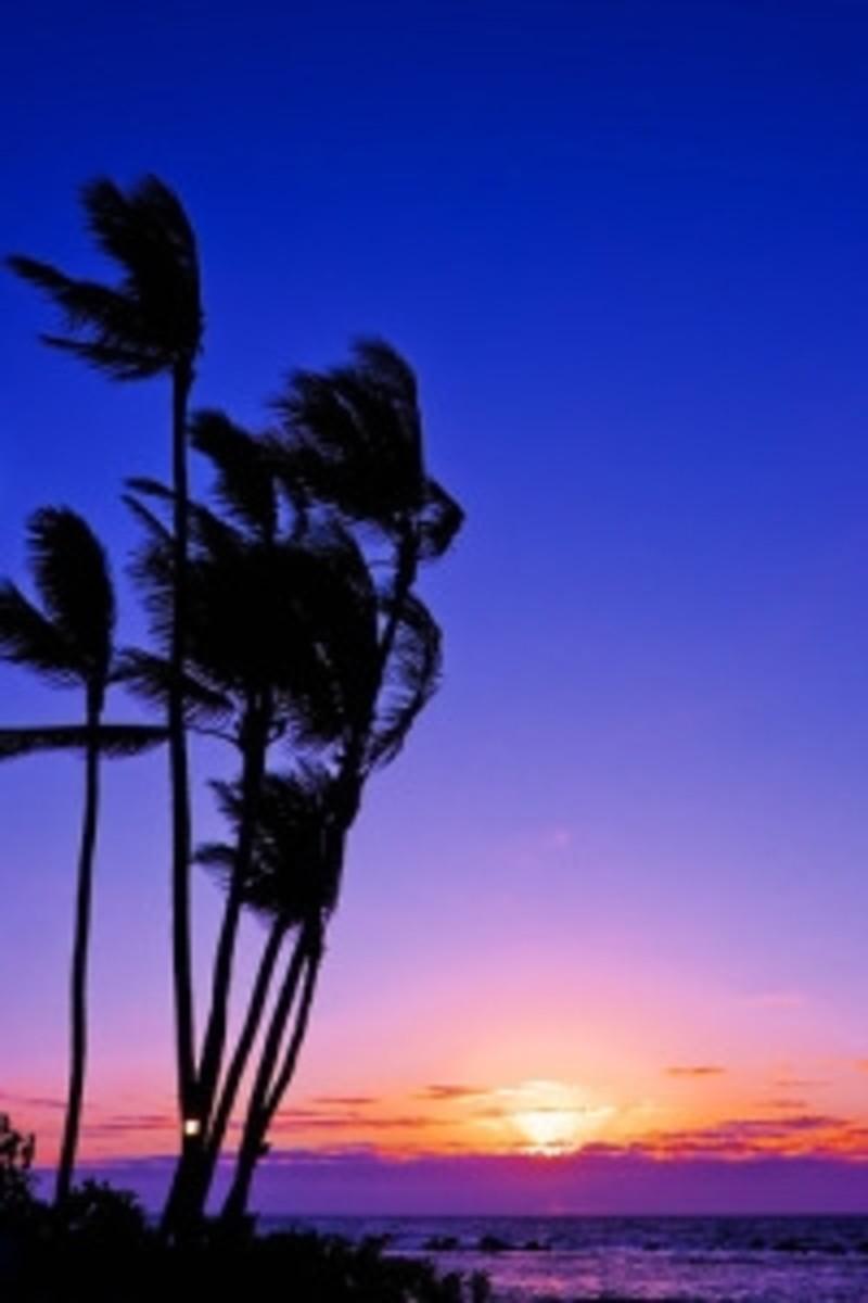 Keauhou Beach sunset Kona Hawaii