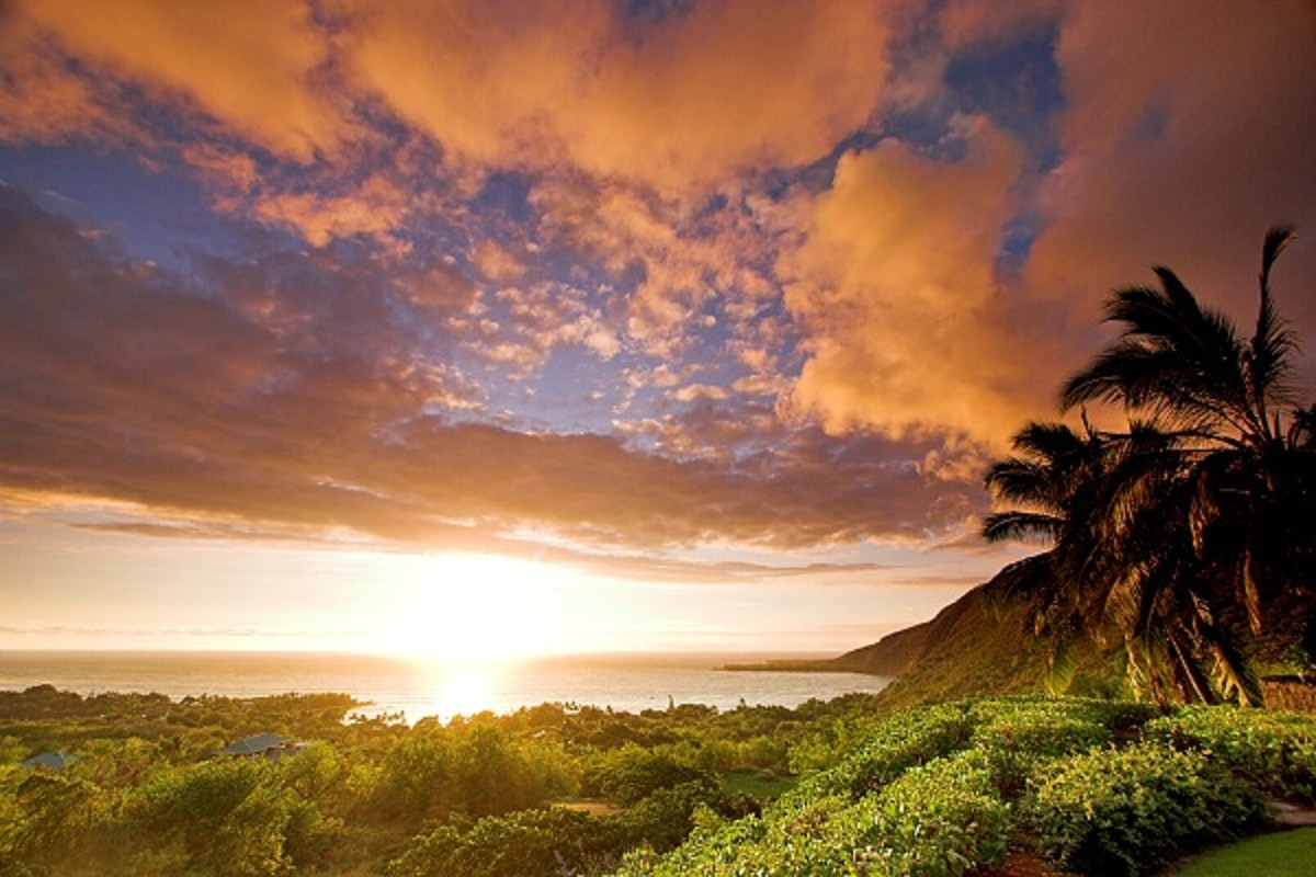 Kealakekua Bay at Sunset