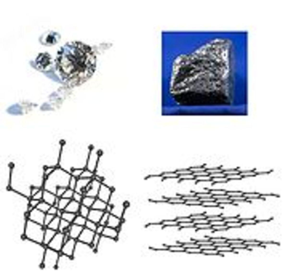 Diamonds (left) and Graphite (right)
