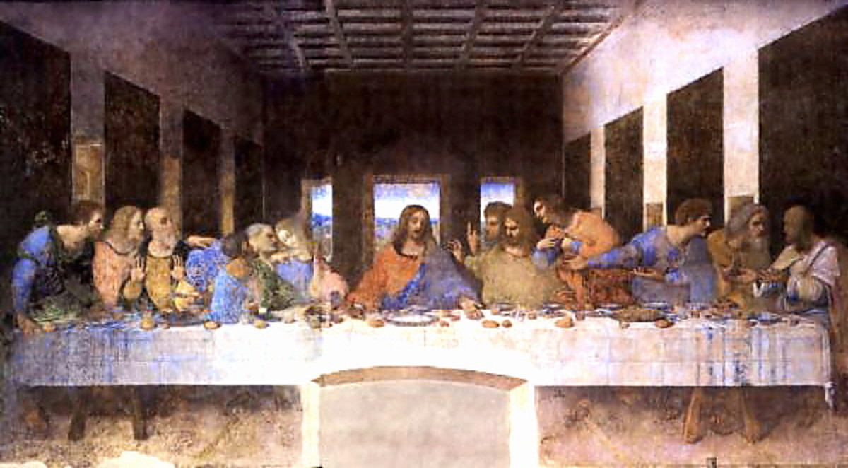 In Leonardo da Vinci's painting, Jesus has just announced that one of the disciples will betray him.