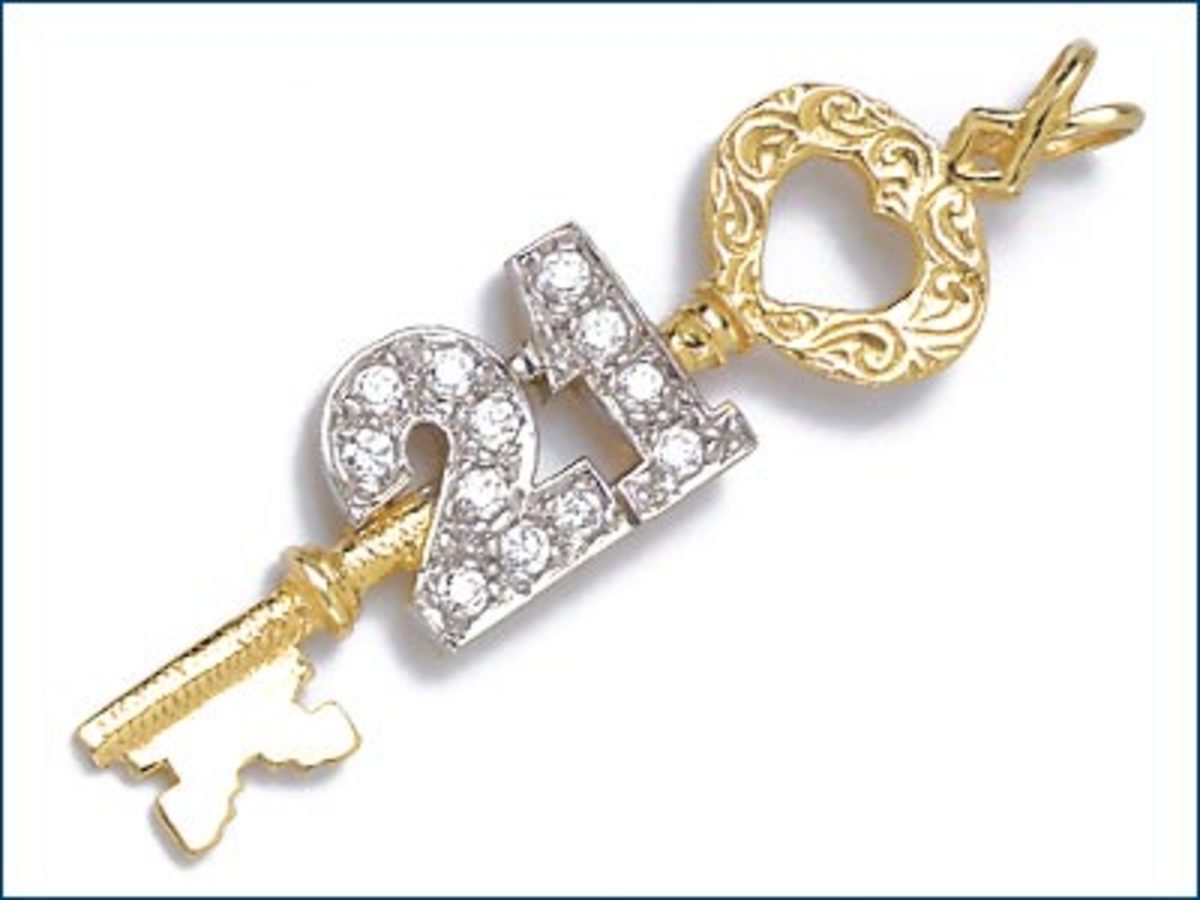 A symbolic key signifies entry into adulthood. In many cultures 21 is considered a major landmark in life.