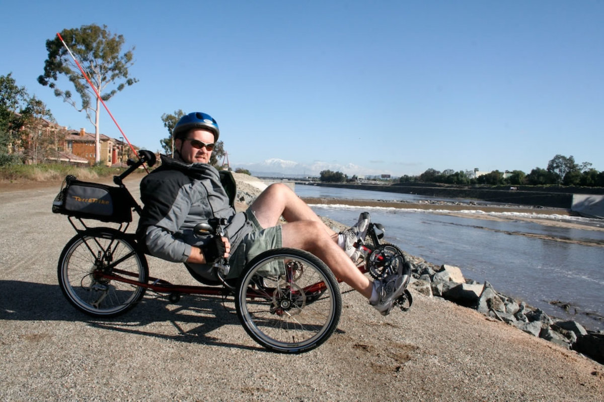 My first chilly morning out on the trail with the new trike.