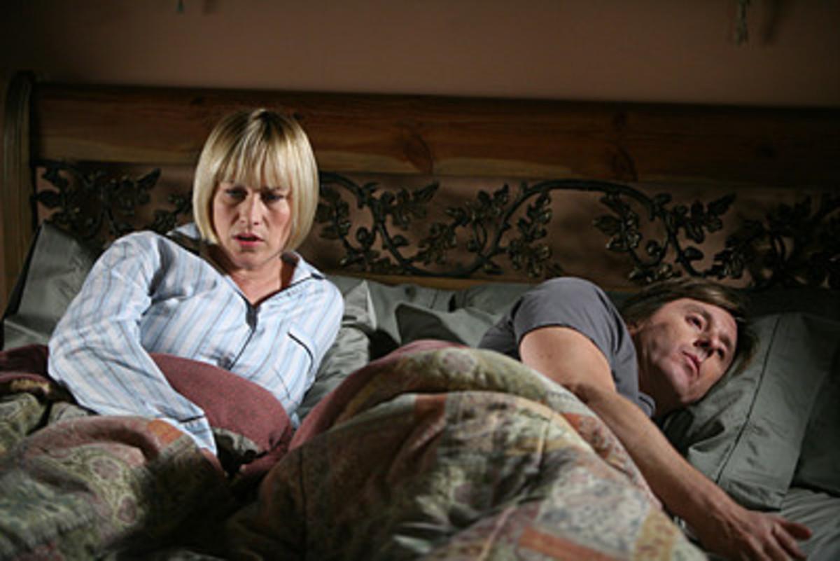Alison DuBois, preoccupied by nightmares of an abattoir slaying - CBS Medium New Season 7