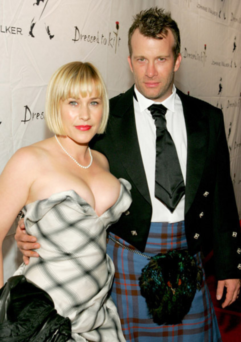 Patricia Arquette with her Real Life Husband - Not so Much Medium as Extra large?