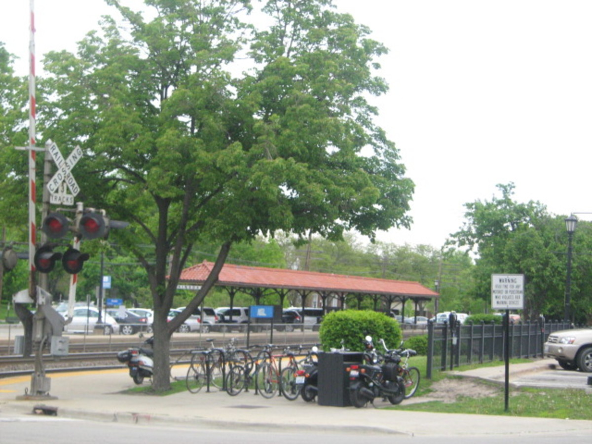 View of the Hinsdale Train Depot