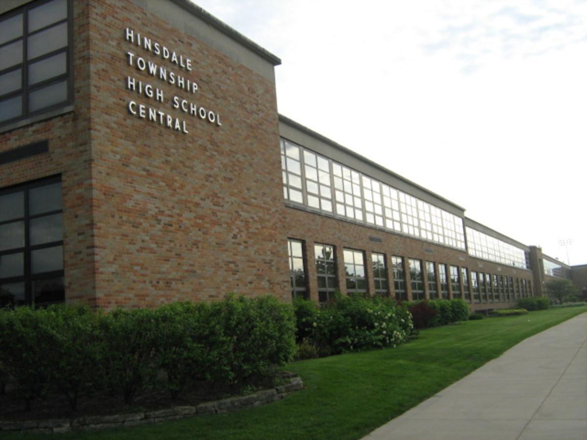 Hinsdale High School on 55th Street
