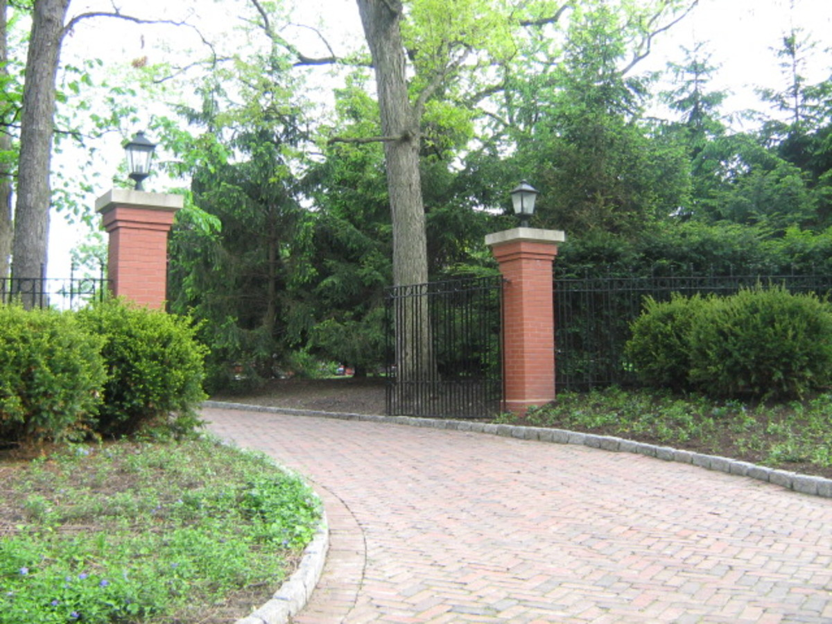Back entryway to a huge mansion in Hinsdale