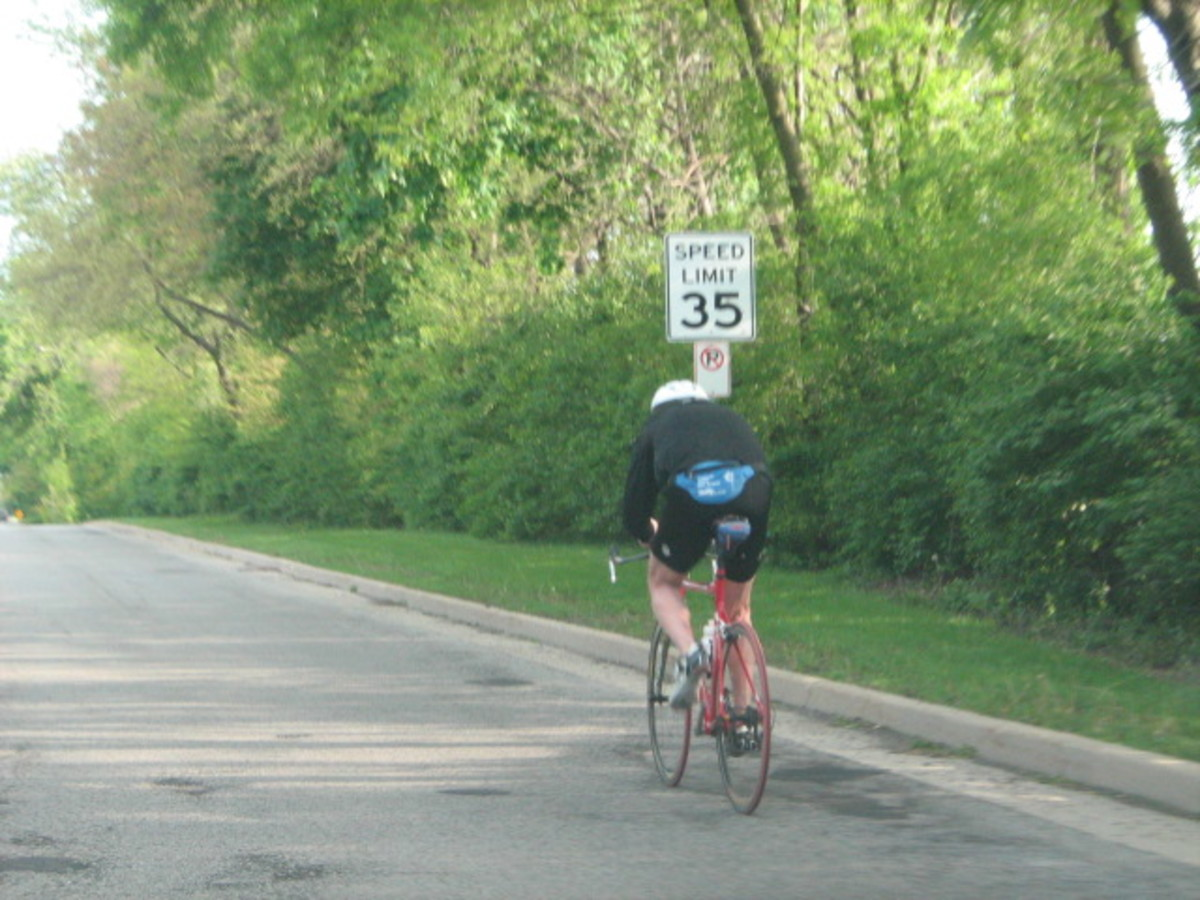 Many bike riders, walkers, and joggers are found at the edge of Hinsdale streets when weather permits