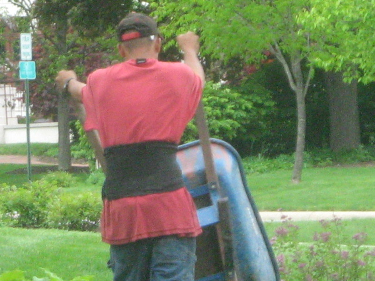 Landscapers working around large homes and mansions in Hinsdale is a common sight