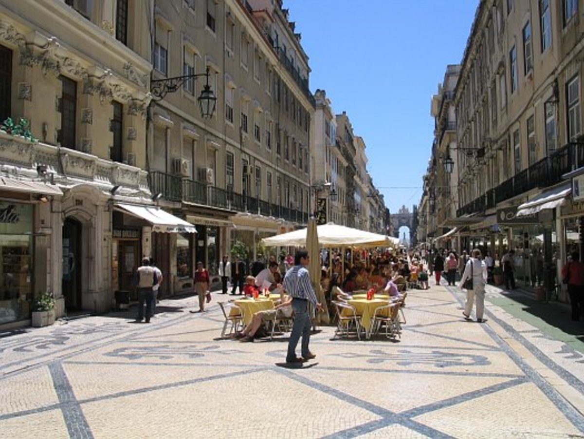 Downtown Lisbon - featuring the 'Pombaline' buildings and designs of the Marques de Pombal'