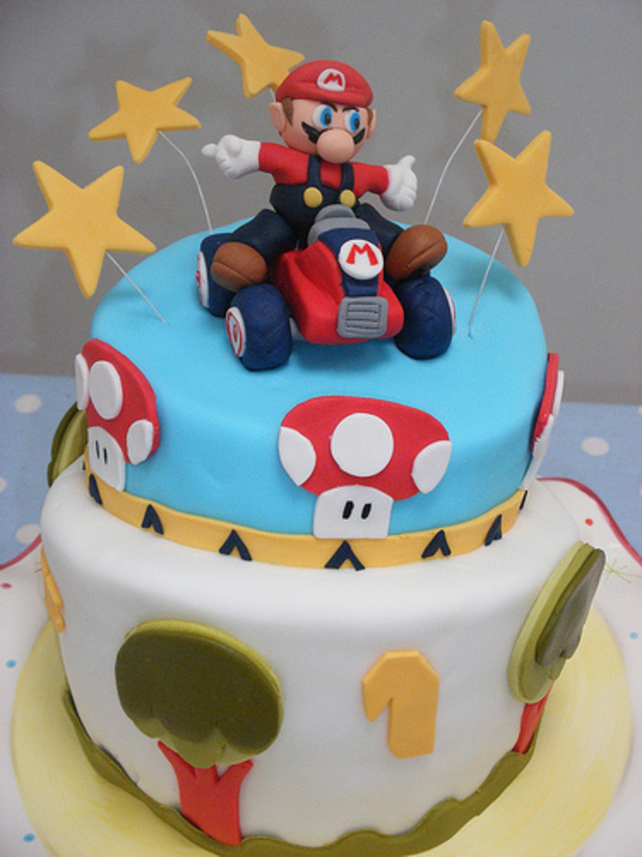 Super Mario Kart Birthday Cake