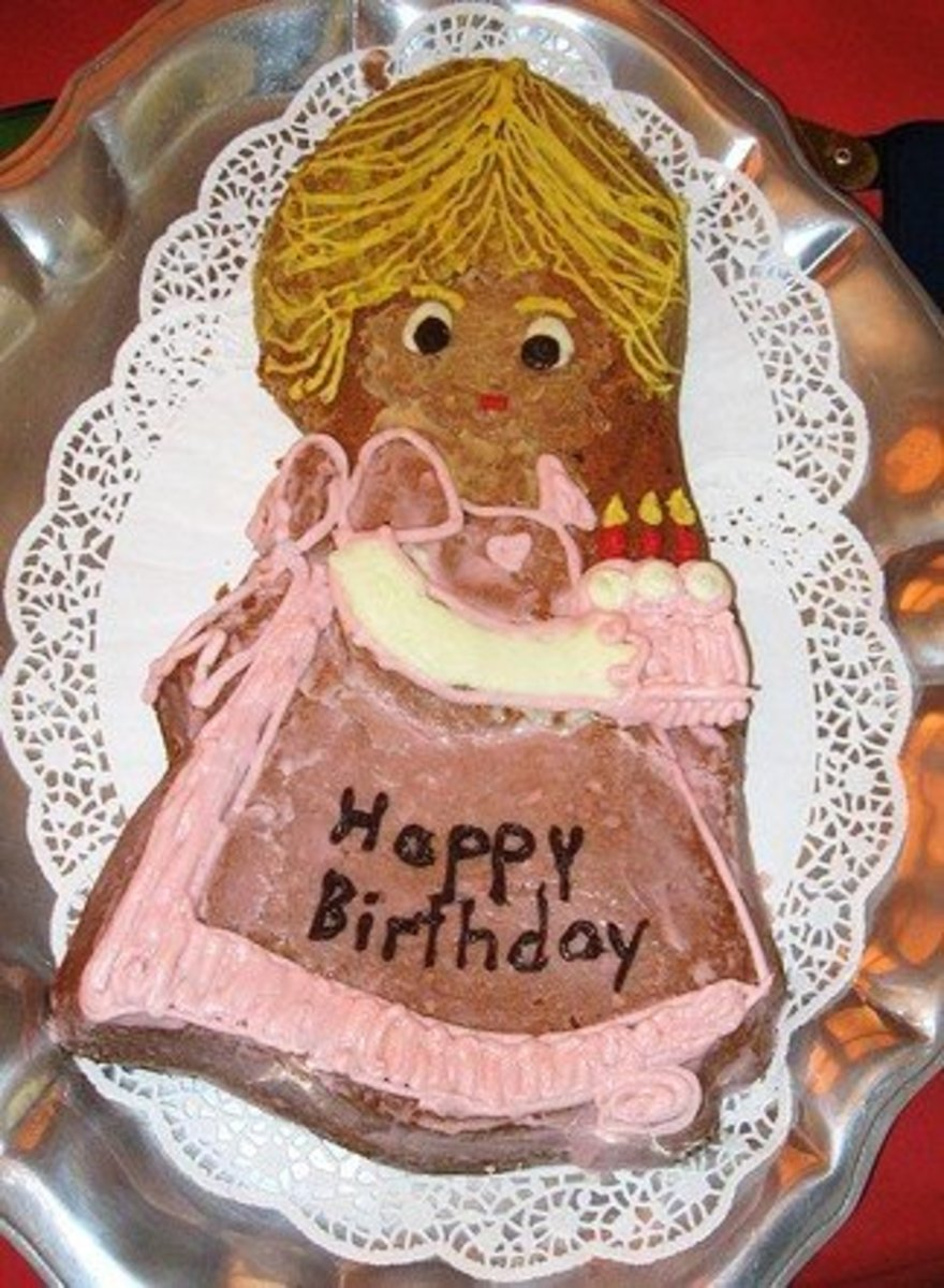 Princess Peach Cake made using a specialty cake pan.