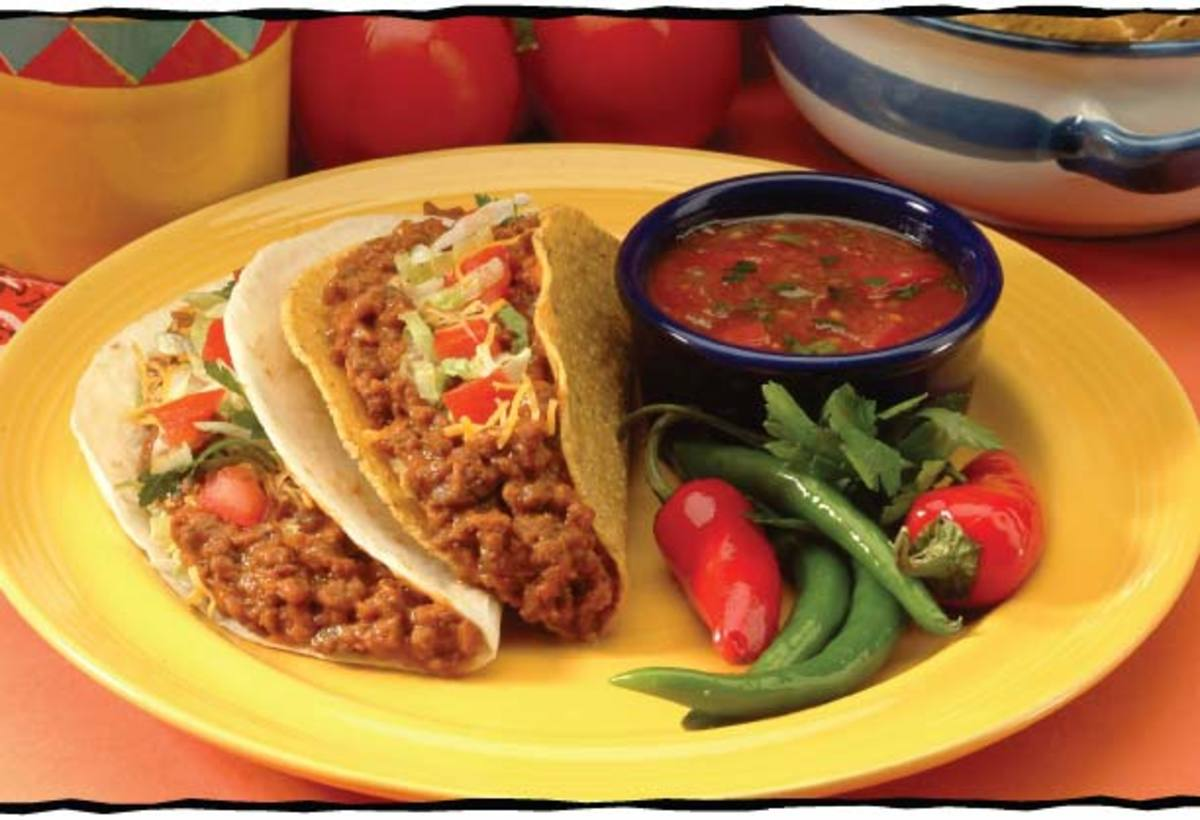 Taco, almost a symbol for mexican food.