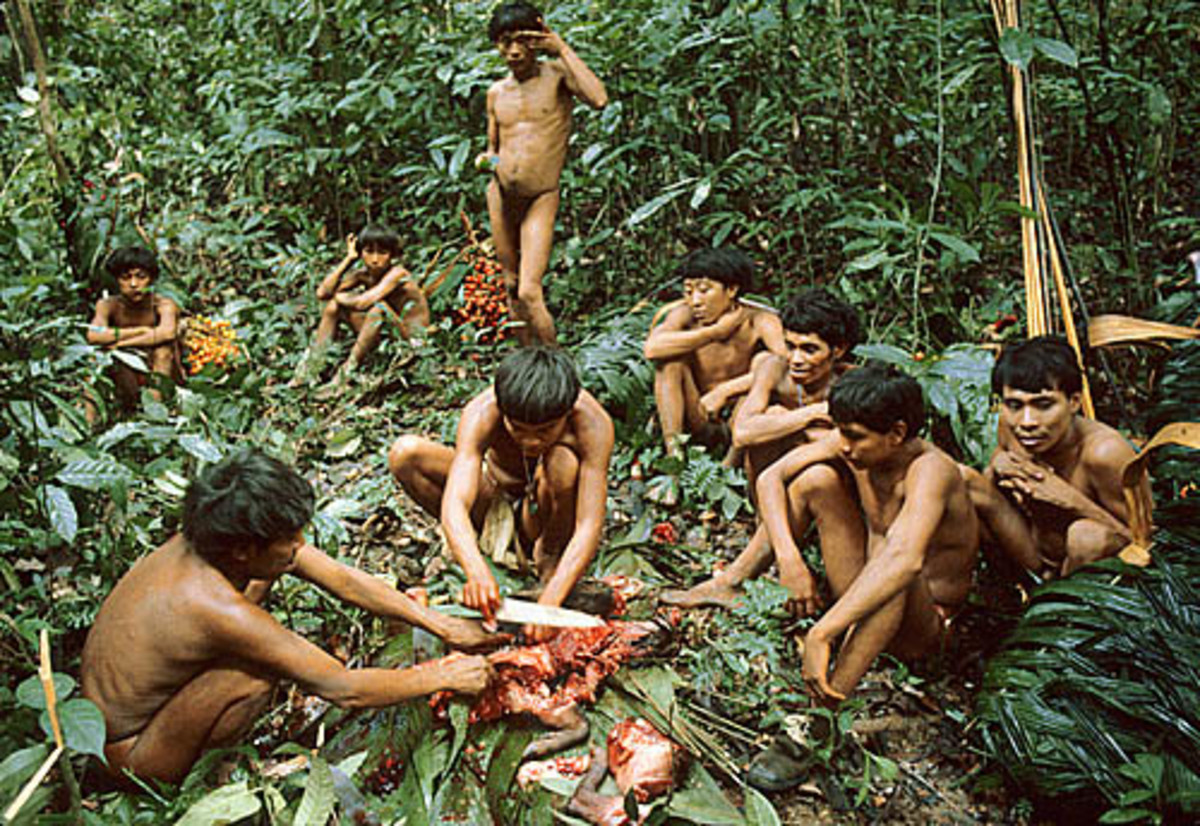 Nowdays tribes, still have primitive culinary habits.