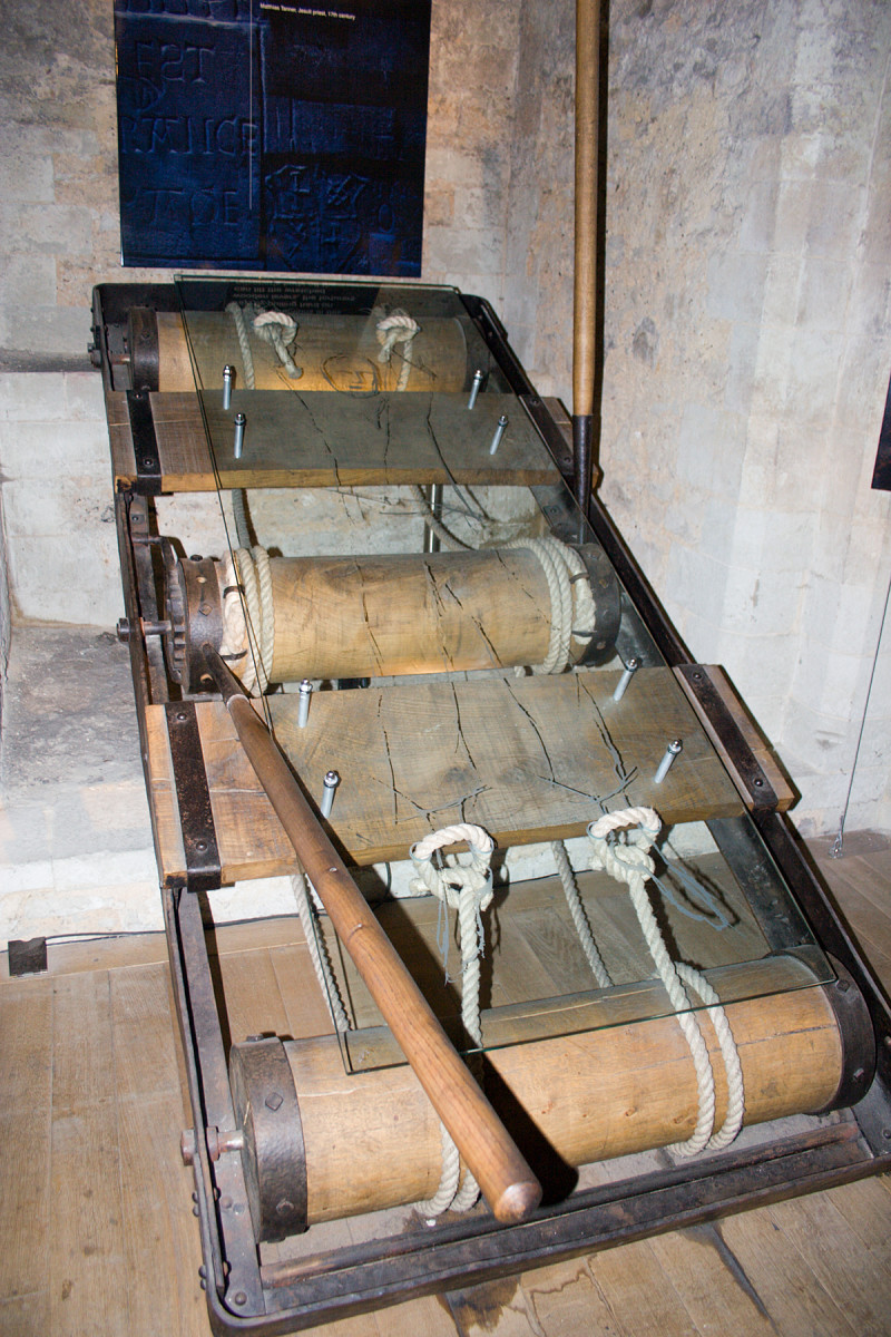 A rack photographed in the Tower of London