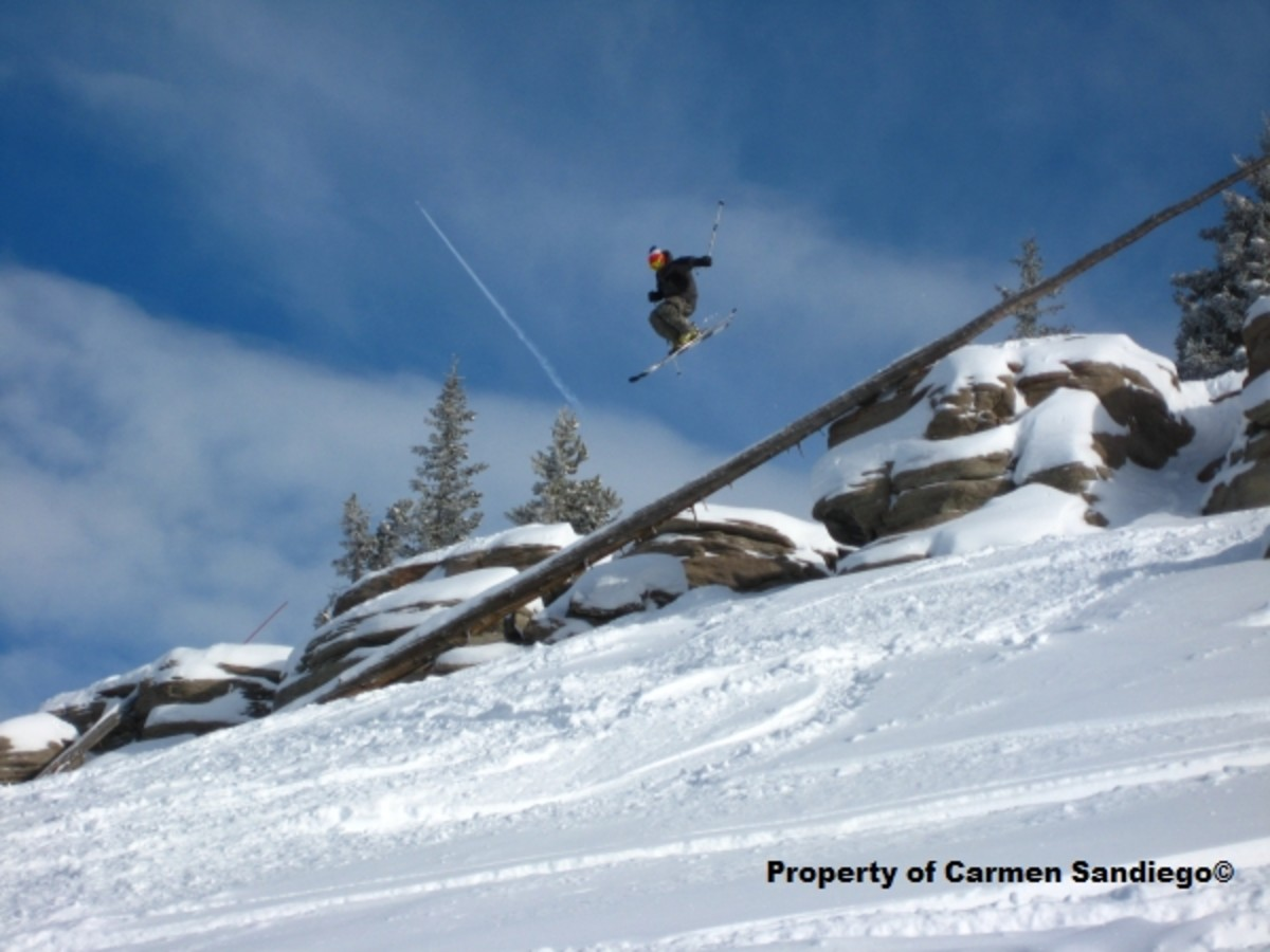 Local athlete Logan Adler in the back country