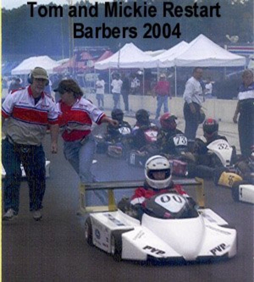 That is me (behind the kart) running to get out of the way.