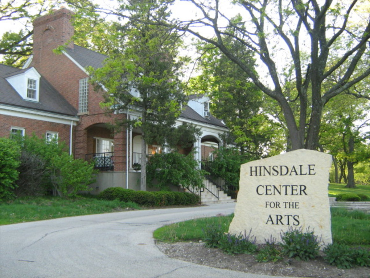 Hinsdale Center for the Arts is located within the massive park